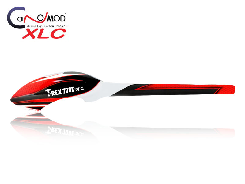 sc 1 st  CanoMod & Red Eyes - T-REX 700E Fuselage FULL CARBON CanoMod